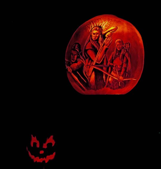 The elves of the Hobbit at the Jack-o-Lantern Spectacular