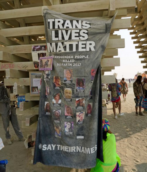 Trans Lives Matter, Burning Man Temple 2017