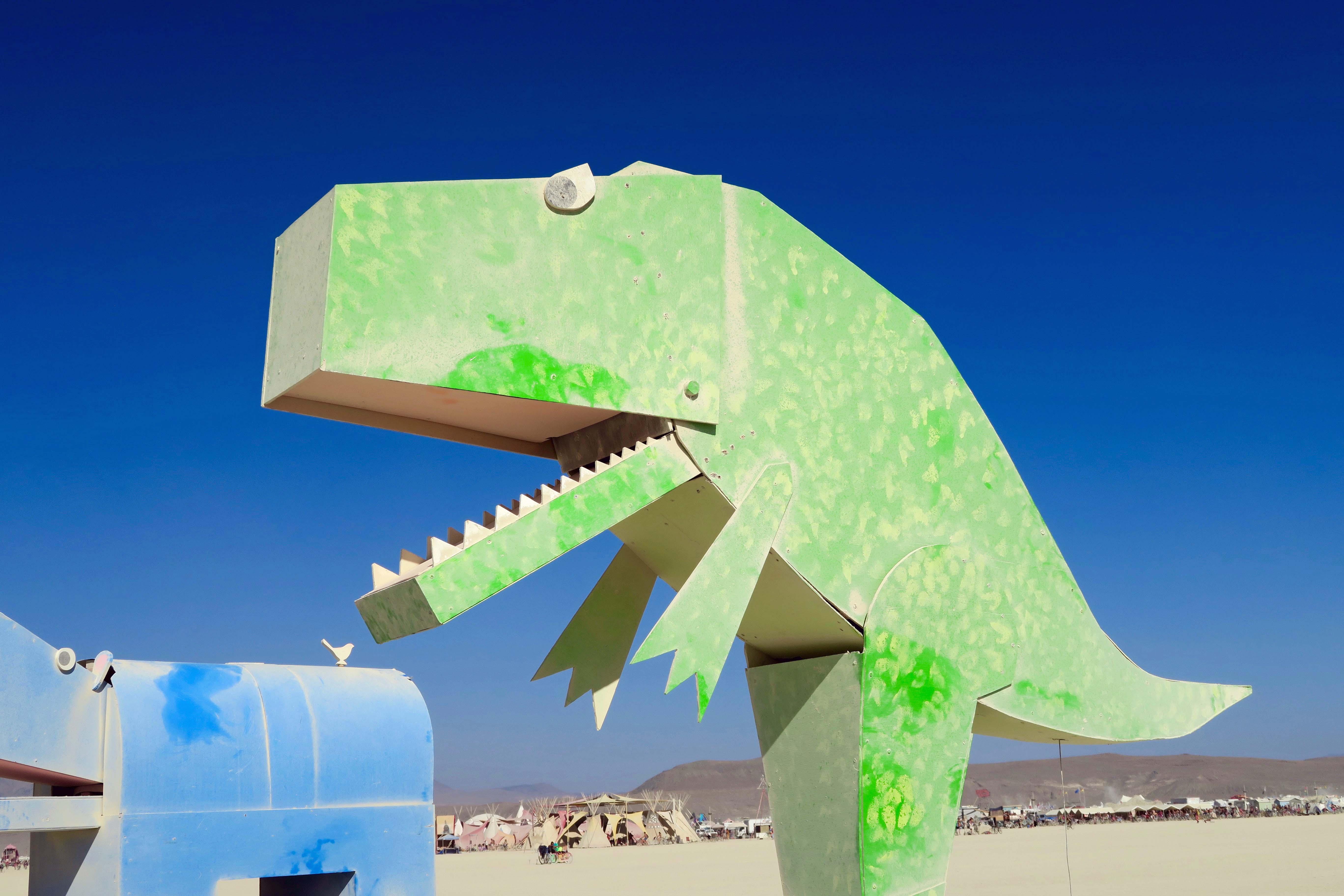 Tyrannosaurus Rex at Burning Man 2017