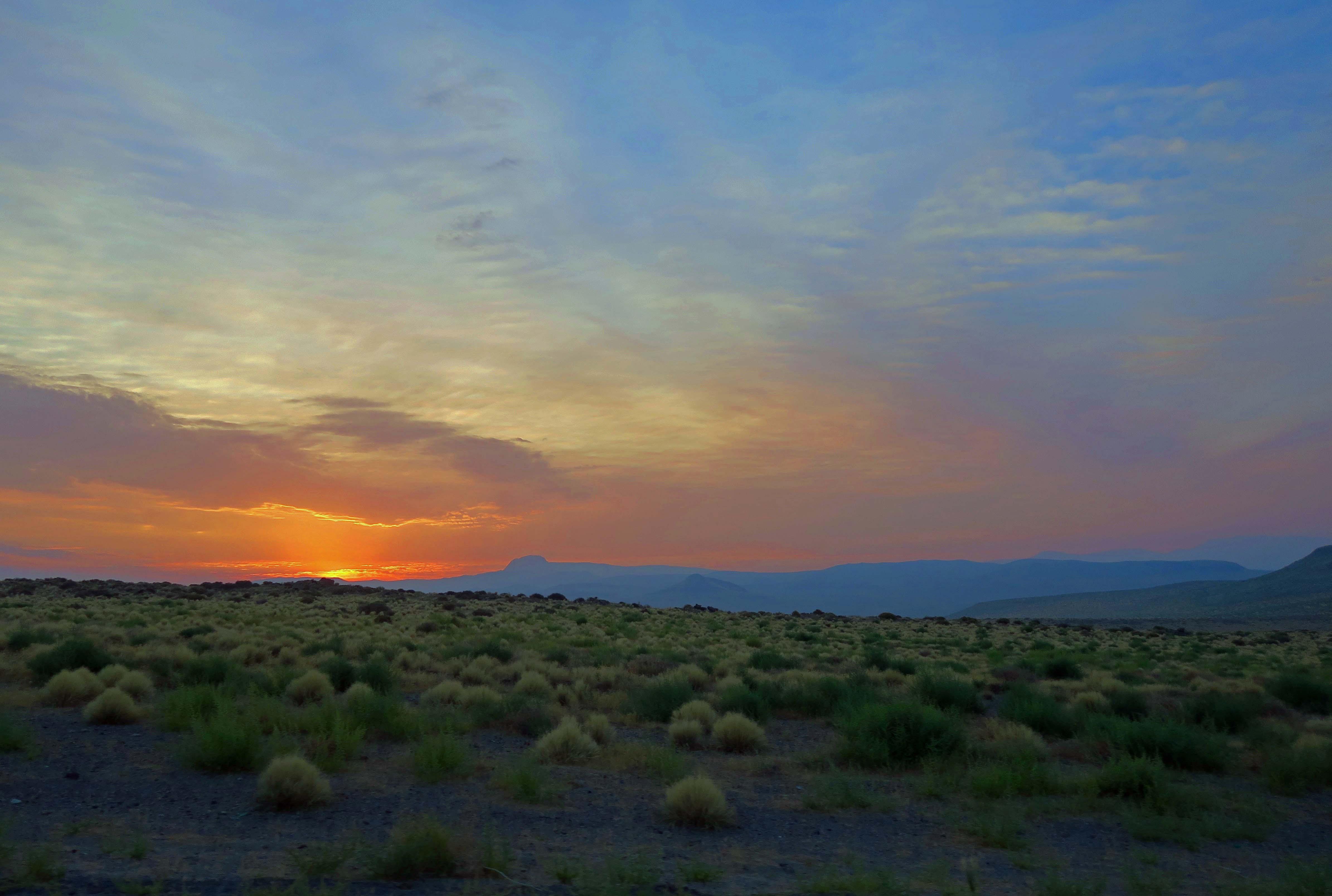 View leaving Burning Man 2017