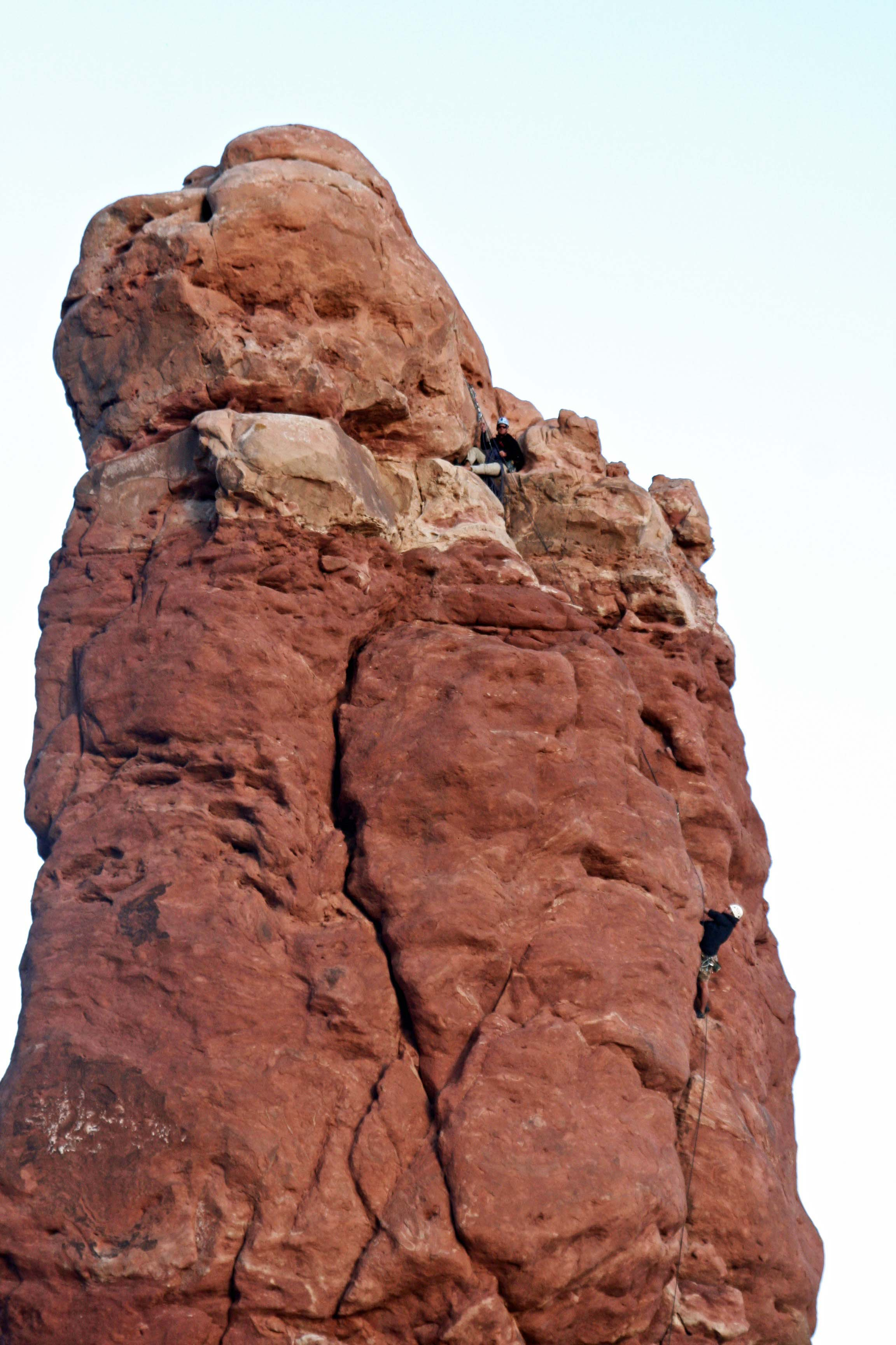 Climbers in Arches NP