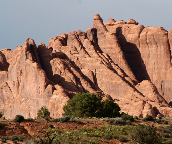 Creation of fins, Arches NP