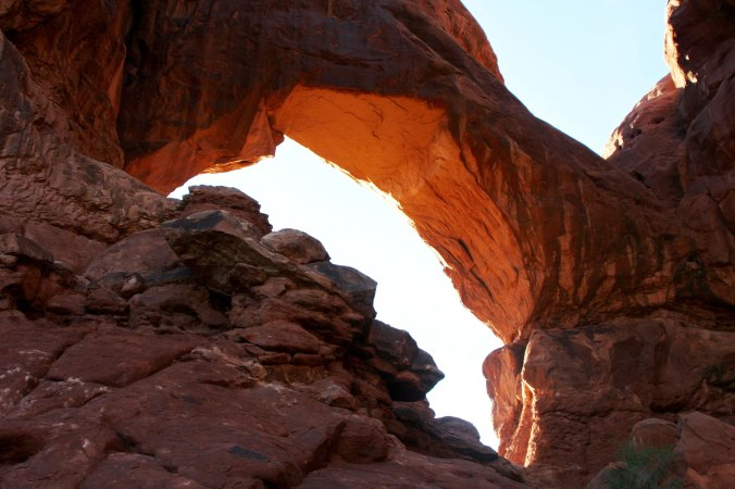 Double Arches up close, Arches NP