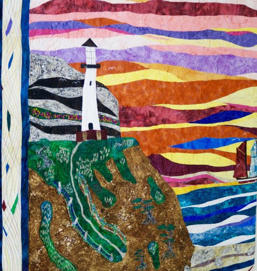 Lighthouse quilt from the Latimer Quilt Center