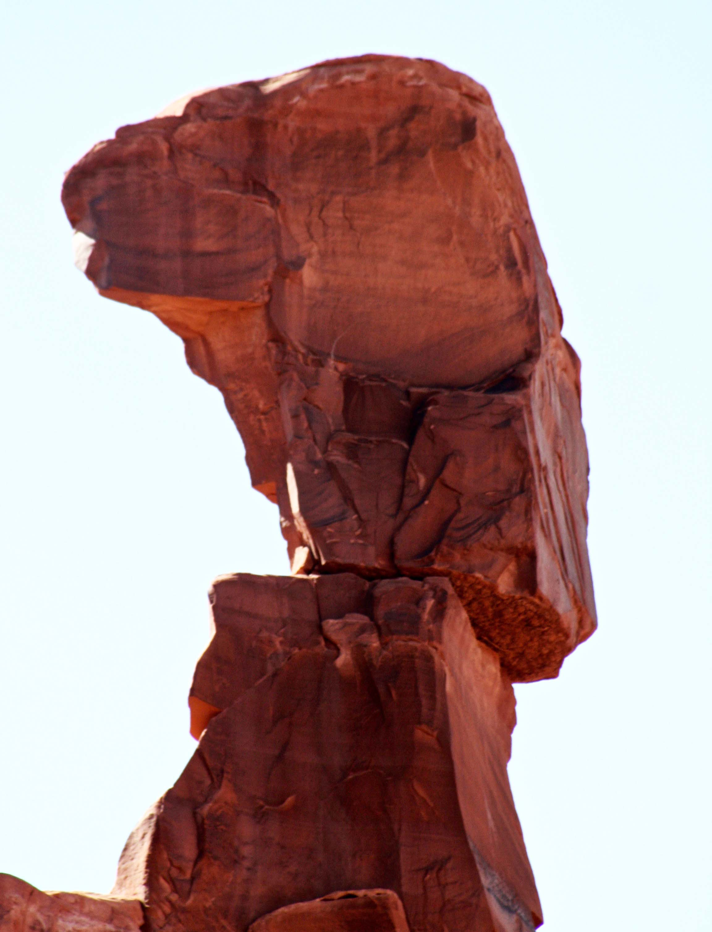 Sliding off pedestal, Arches, NP