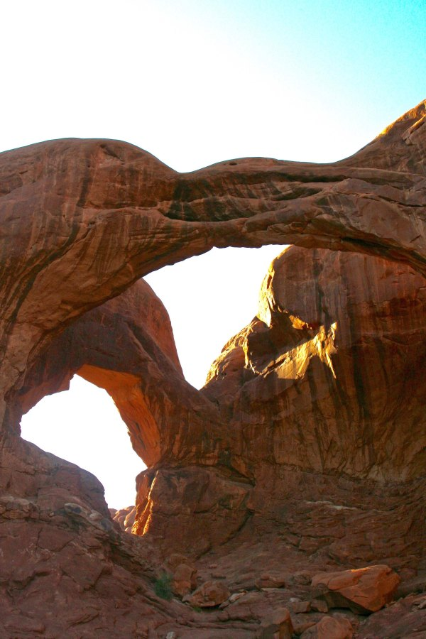 Photo of Double Arch at Arches national Park by Curt and Peggy Mekemson.