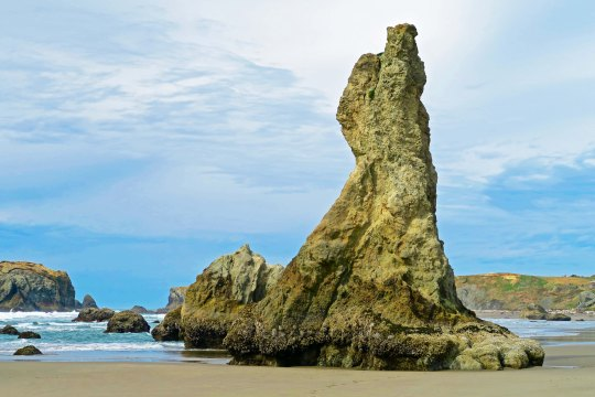 Bigfoot rock at Bandon, Oregon