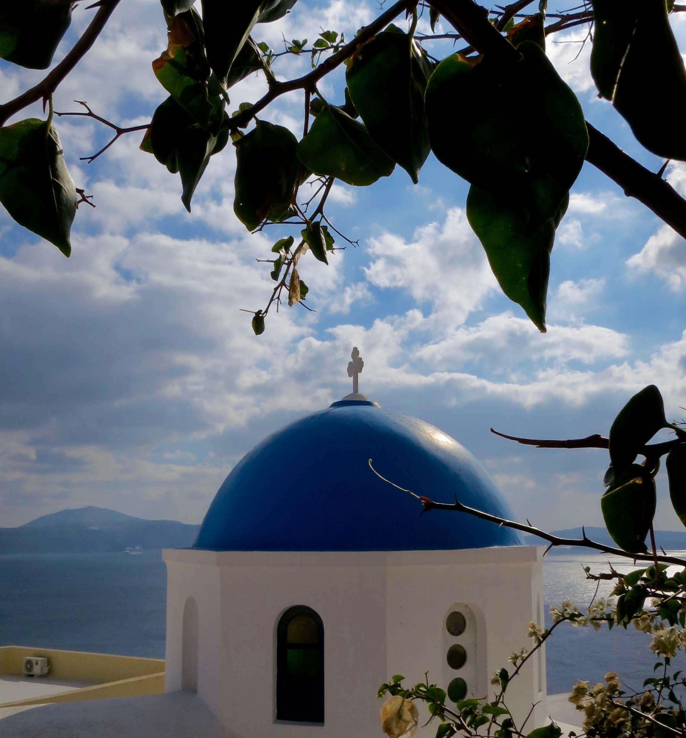Santorini photo of Greek Orthodox Church by Curtis Mekemson.