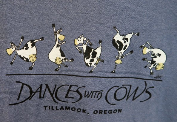 Cow T-shirt at Tillamook Cheese Factory