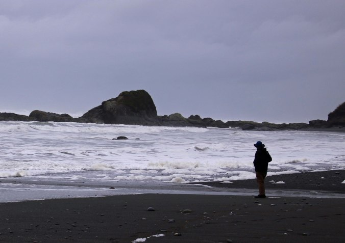 Curt Mekemaon at Beach 5, Olympic National Park P