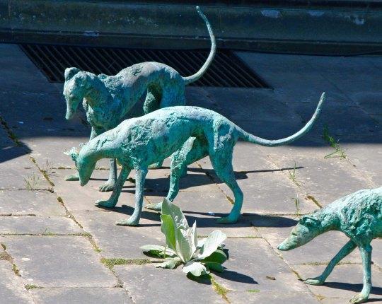 Greyhound sculpture at Chatsworth