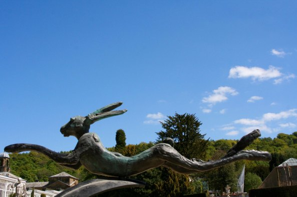 Hare sculpture at Chatsworth