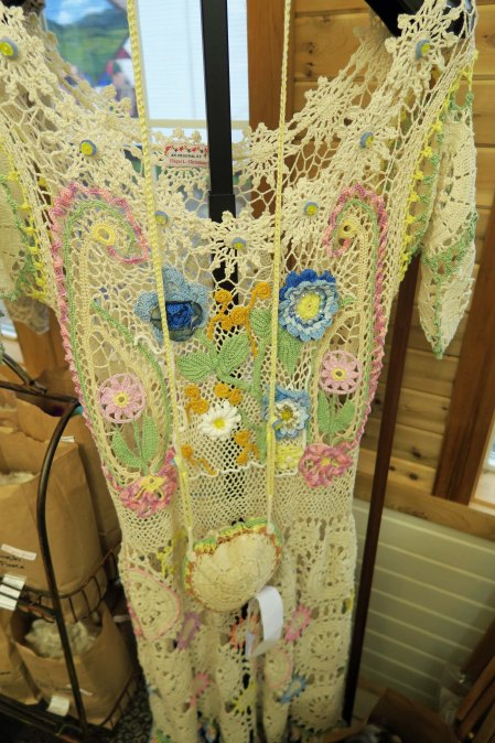 Interesting dress at Latimer Quilt and Textile Center