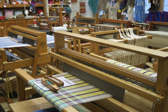 Looms at Latimer Quilt and Textile Center