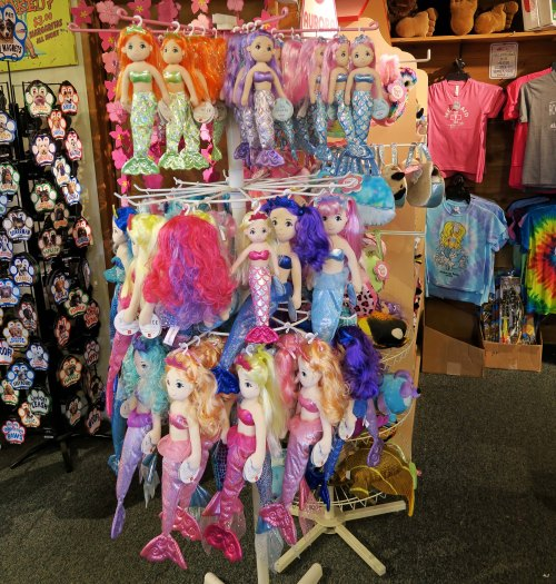 Mermaids for sell at Rockaway Beach in Oregon