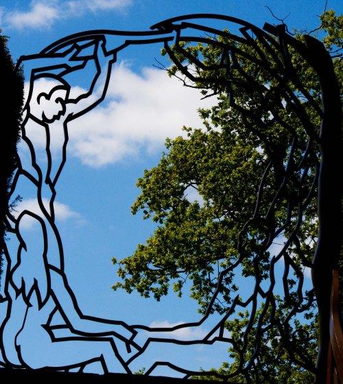 Metal sculpture at Chatsworth