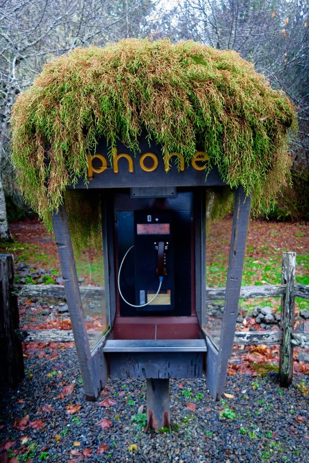 Old Fashioned phonebooth in Forks, Wa
