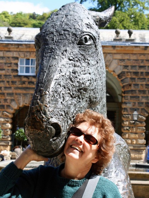 Peggy and horse at Chatsworth