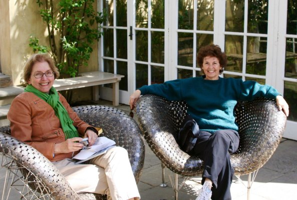 Peggy Mekemson and Jane Hagedorn at Chatsworth