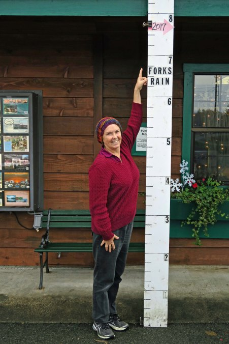 Photo of rainfall at Forks, Wa. by Curtis Mekemson.