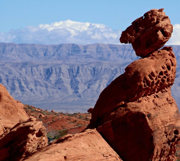 Rock sculpture in Valley of Fire State Park