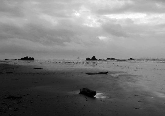 Ruby Beach under dark clouds, Olympic National Park