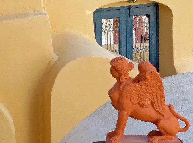 Sphinx on Santorini
