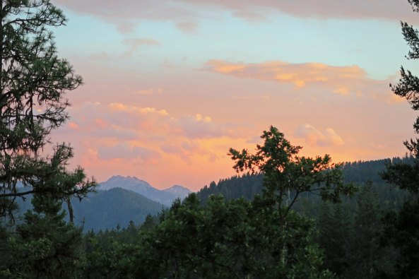 Sunset view from Mekemson patio on Upper Applegate River