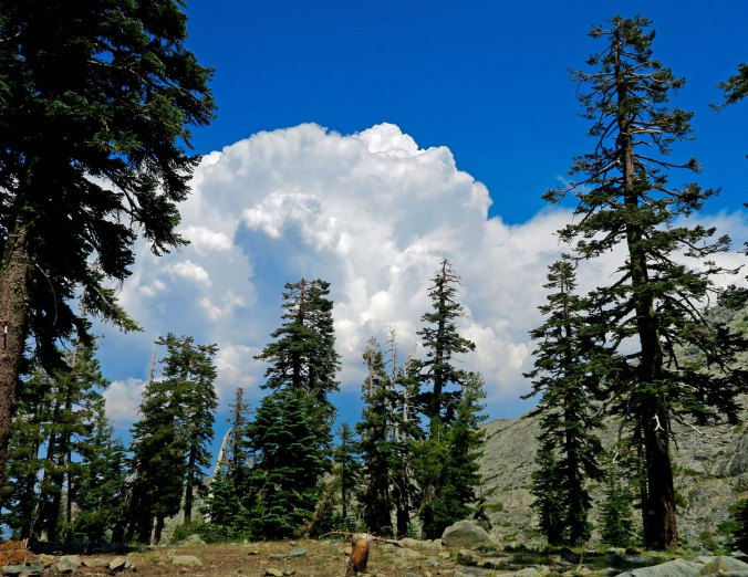 Thunderheads at Glacier Lake in Five Lakes Basin