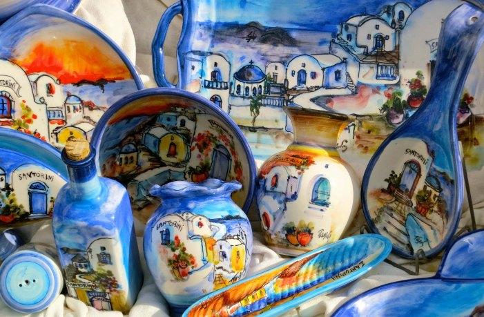 Tourist dishes on Santorini