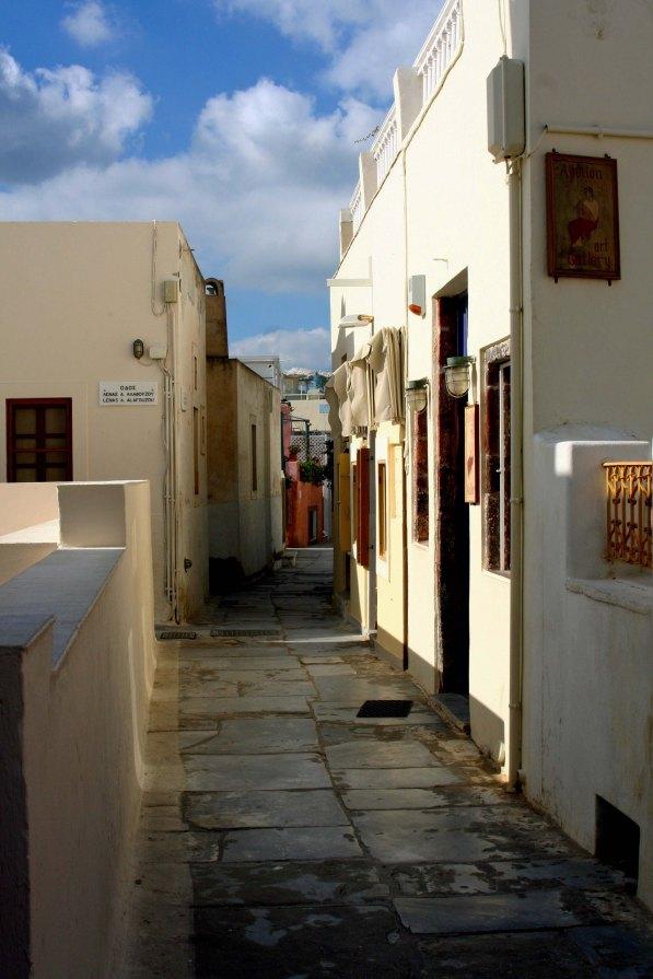 Walkway in Santorini