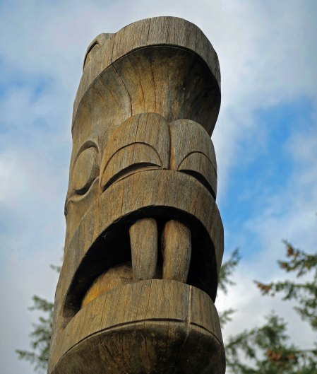 Beaver totem pole at Ocean Shores Interpretive Center
