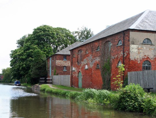 Buildings along Trent and Mersey Canal