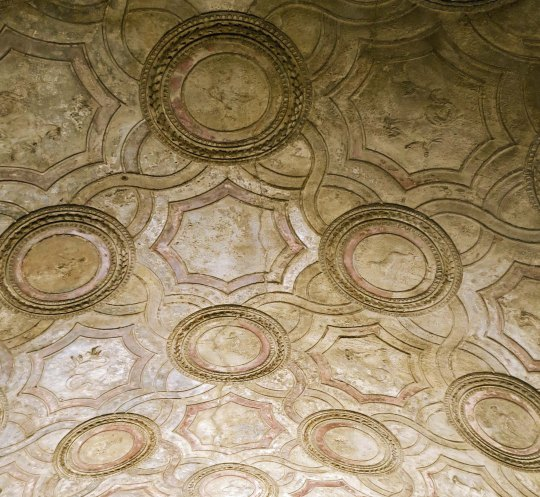 Ceiling of bathhouse in Pompeii
