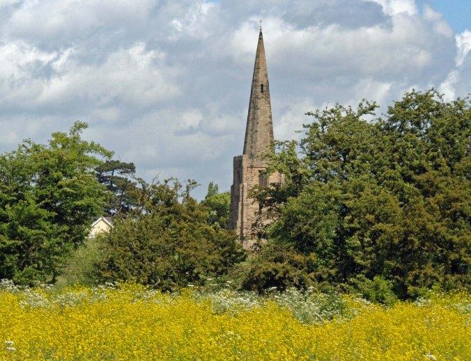 Church near Sawley Marina
