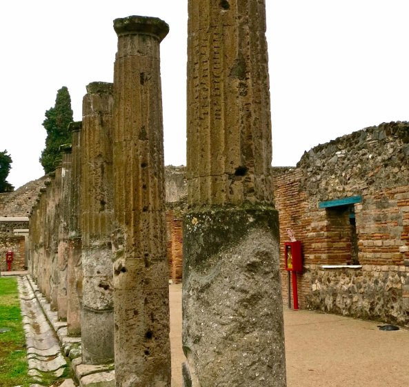 Columns in a row at Pompeii