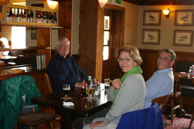 Enjoying pub along Trent and Mercy Canal