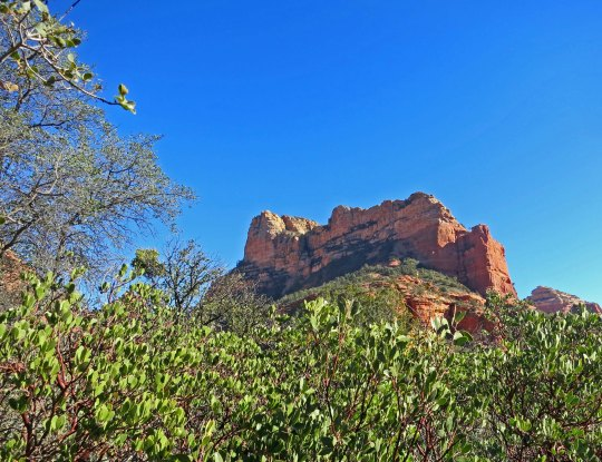 Fortress rock in Boynton Canyon