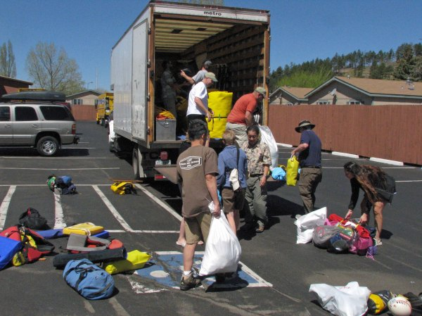Loading truck for Grand Canyon trip DG