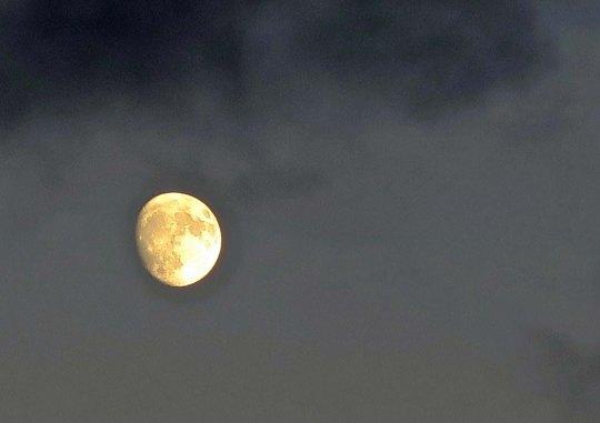 Moon over Copalis Beach