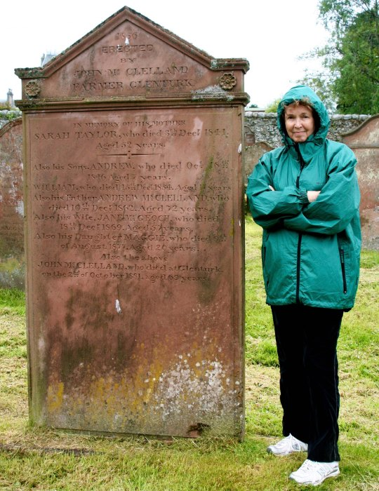 Peggy and Scotland grave
