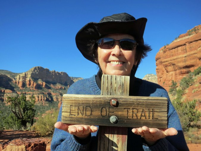 Peggy at end of trail in Boynton Canyon