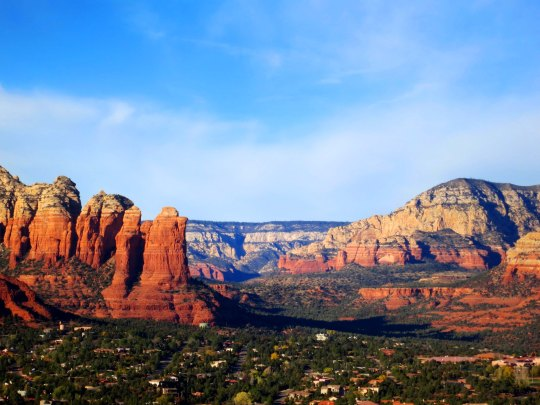 Sedona rocks in morning