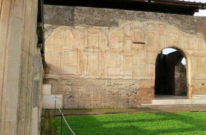 Side of bathhouse in Pompeii