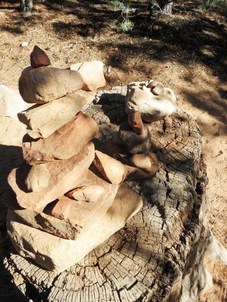 Stacked rocks in Boynton Canyon