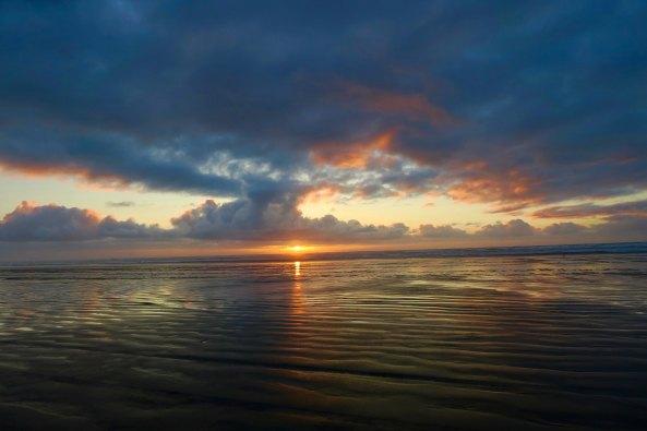 Sunset central coast of Washington