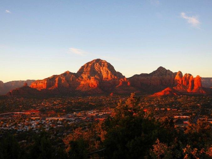 Sunset west of Sedona