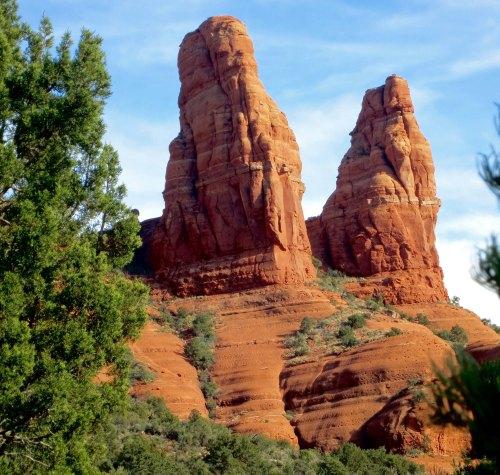 Twin rocks in Sedona, AZ