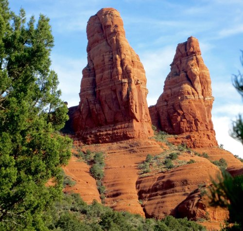 Twin rocks in Sedona, AZ