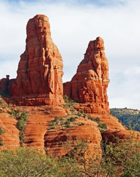 Twin rocks in Sedona, Arizona